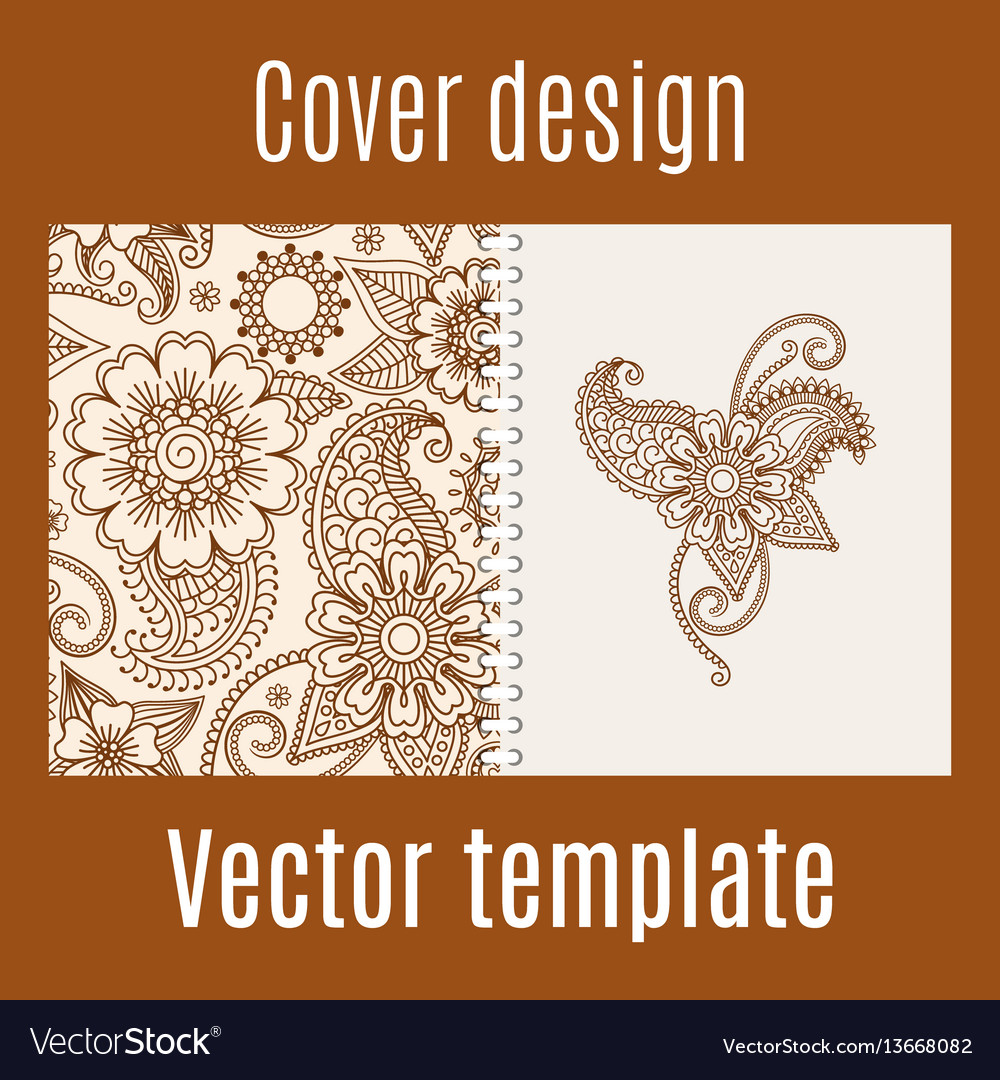 Cover design with henna mehendi pattern