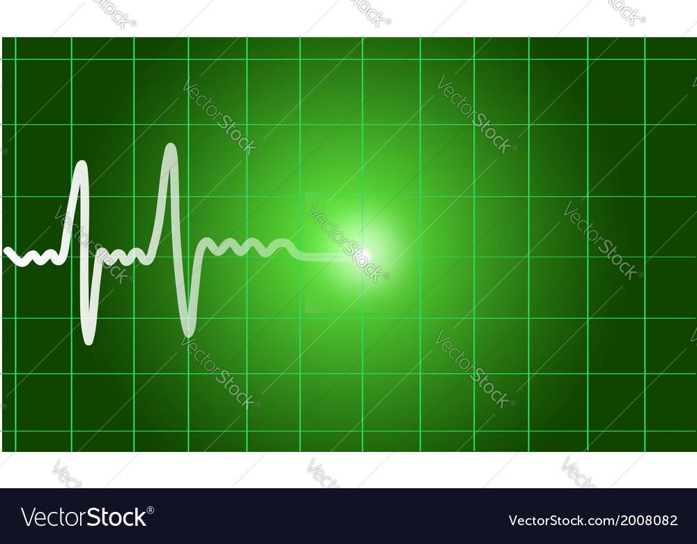 Green heart beat Ekg graph