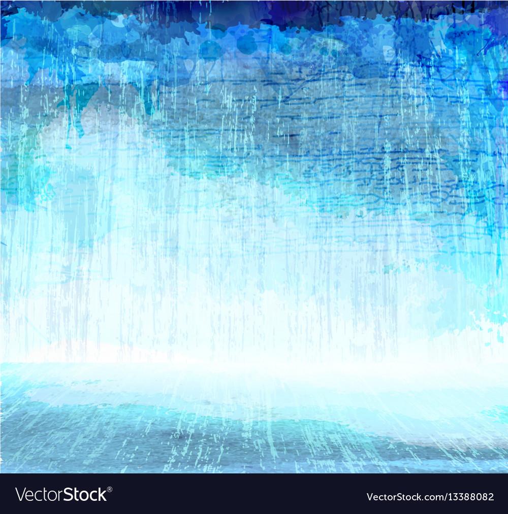 Grunge blue scratching interior artistic