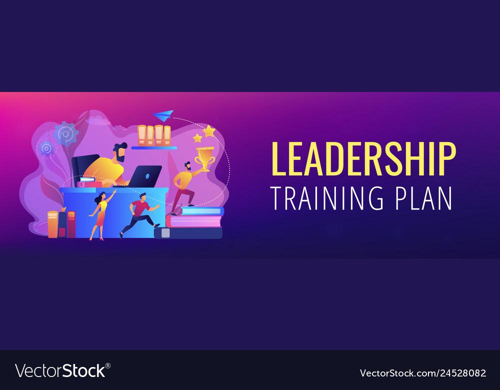 Leadership Concept Banner Header Royalty Free Vector Image