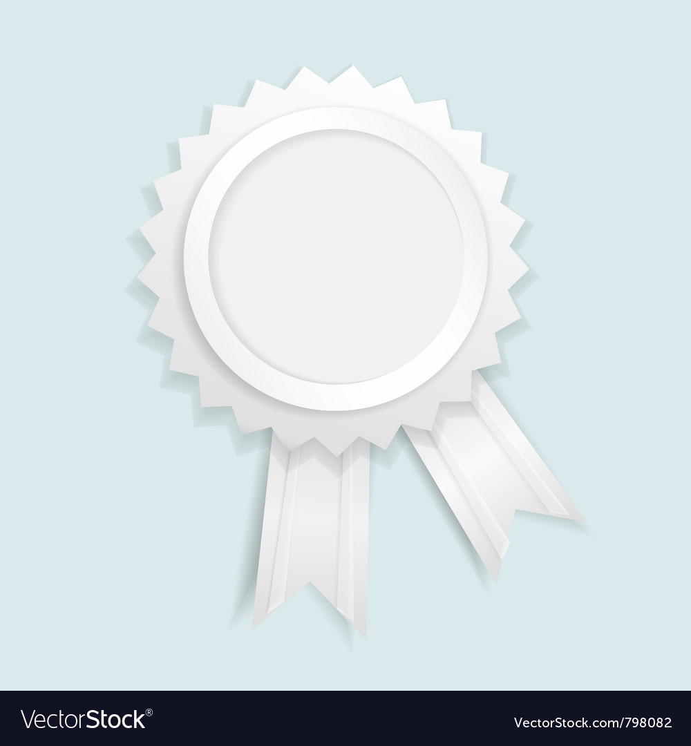 Paper label with ribbons vector image