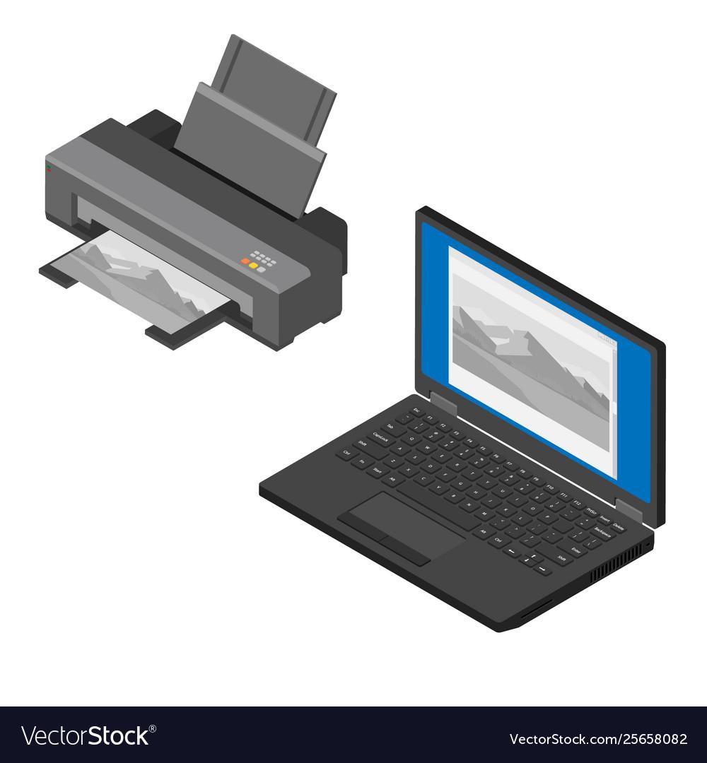 Realistic isometric printer