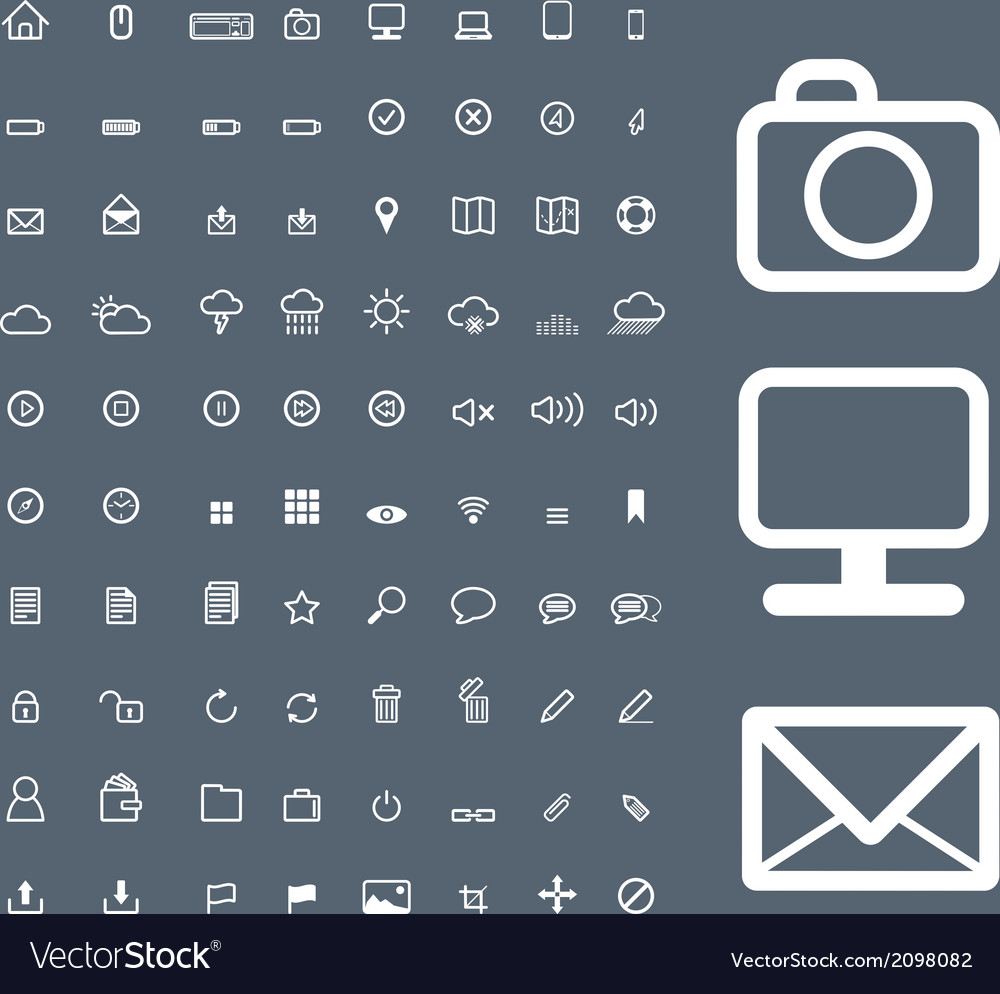 Set of universal icons 2