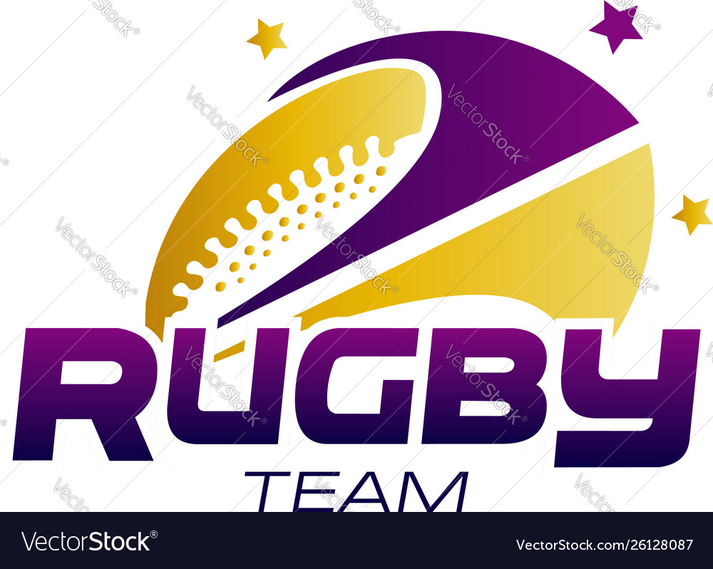 Abstract rugby team logo symbol concept