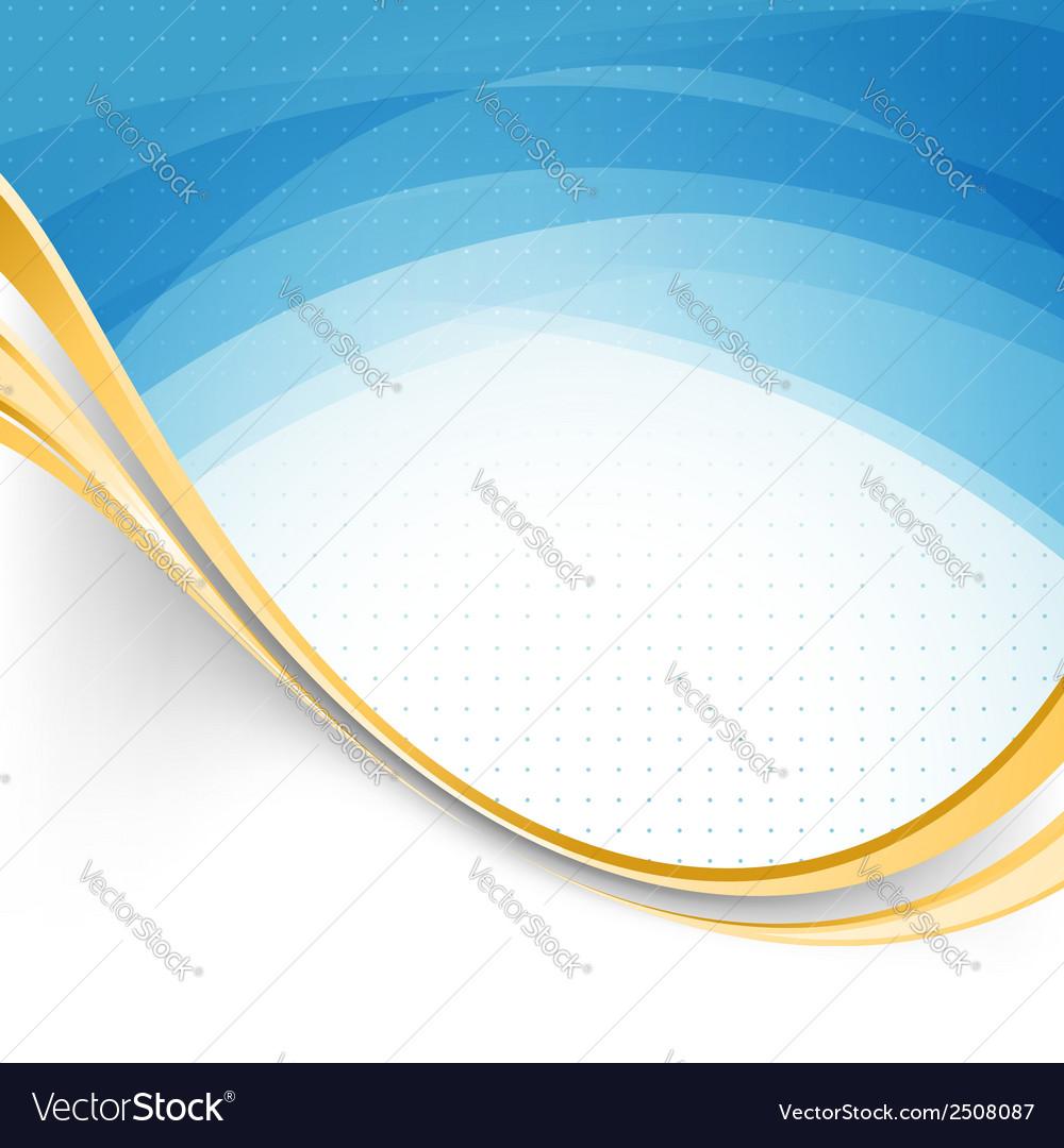 Blue swoosh lines modernistic folder template