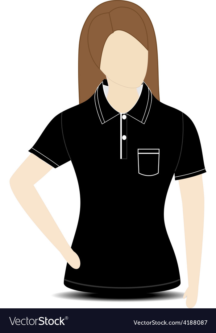 Female shirt template on the mannequin Royalty Free Vector
