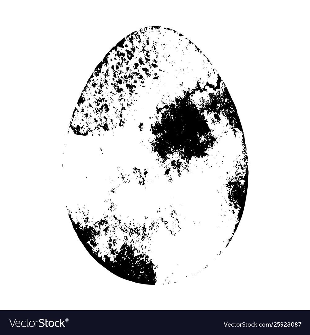 Grunge egg isolated