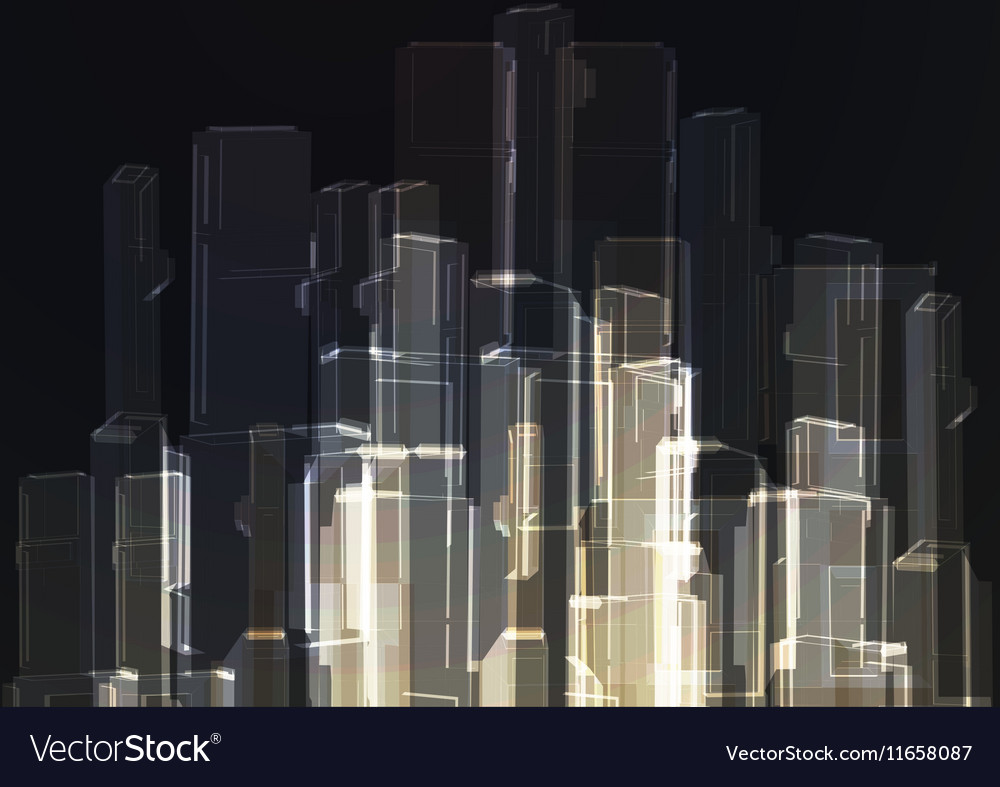 Modern glass wall of office building vector image