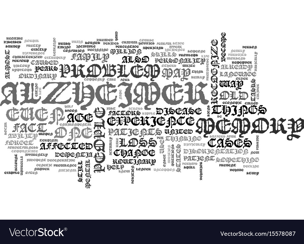 What exactly is alzheimer text word cloud concept
