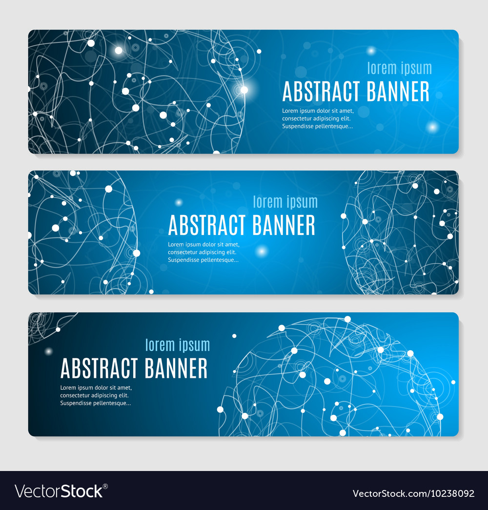 Abstract Glowing Sphere Banner Horizontal