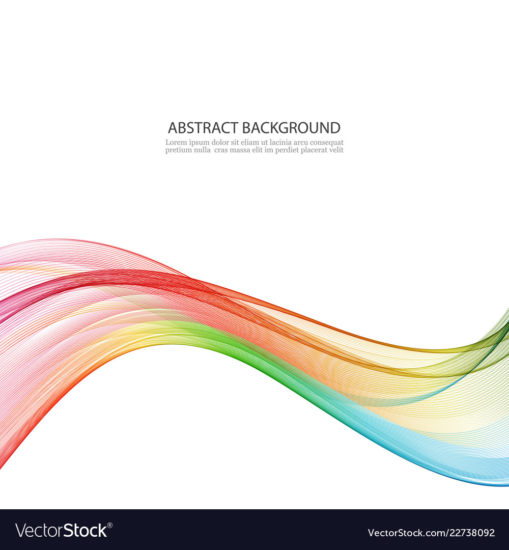 Abstract motion smooth color wave curve
