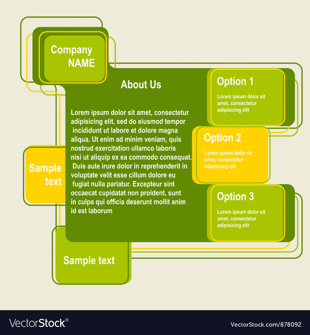 Abstract web site green design template