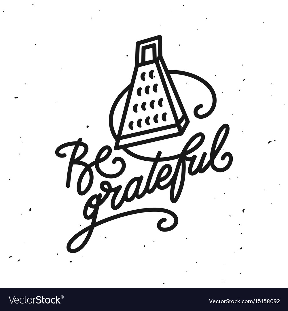 Be Grateful Kitchen Quote Typography Print