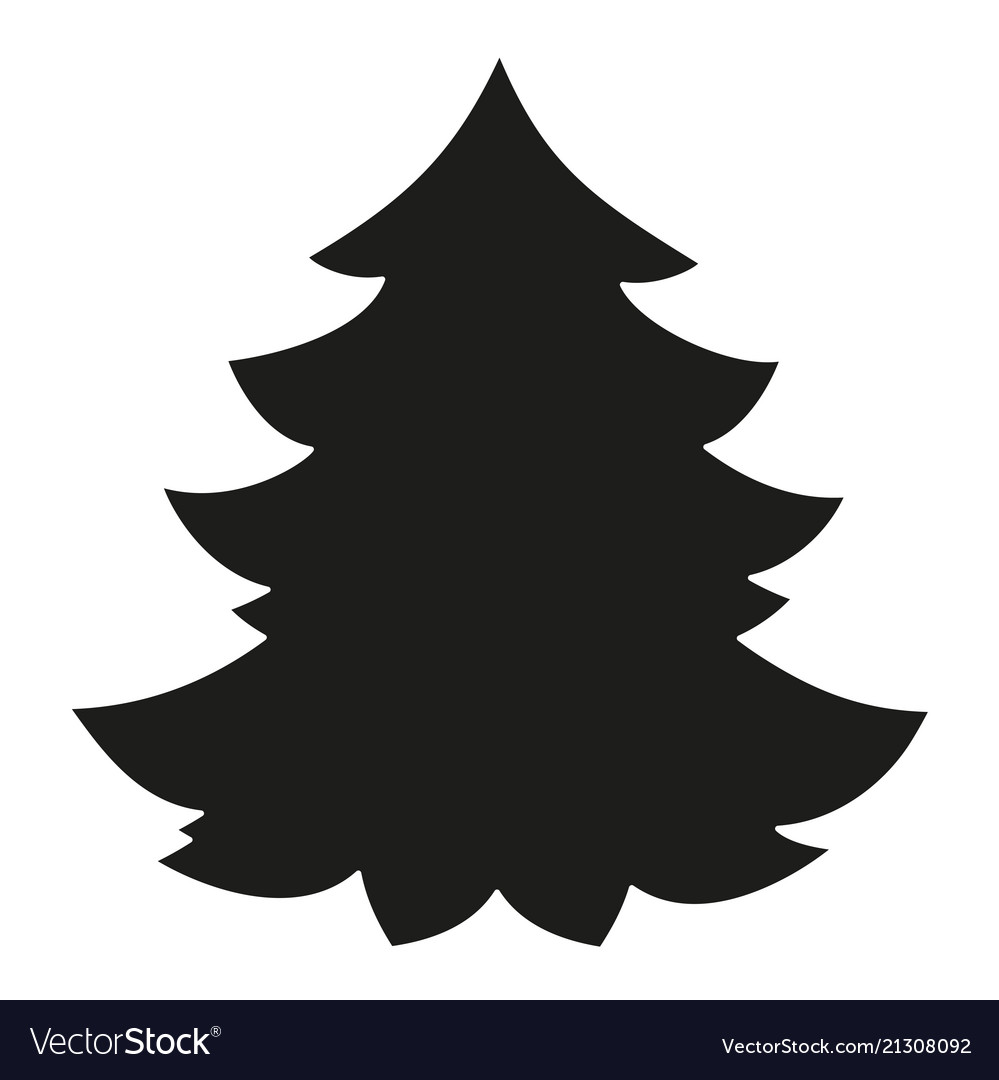 Christmas Tree Images Black And White.Black And White Christmas Tree Silhouette