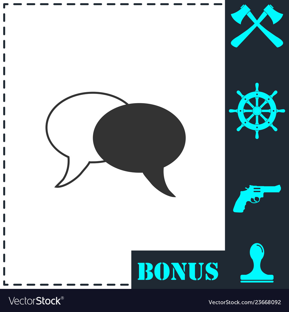 Chat icon flat