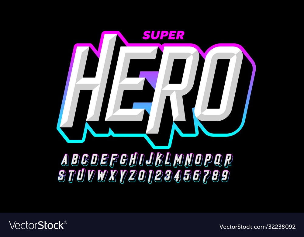 Comics superhero style font