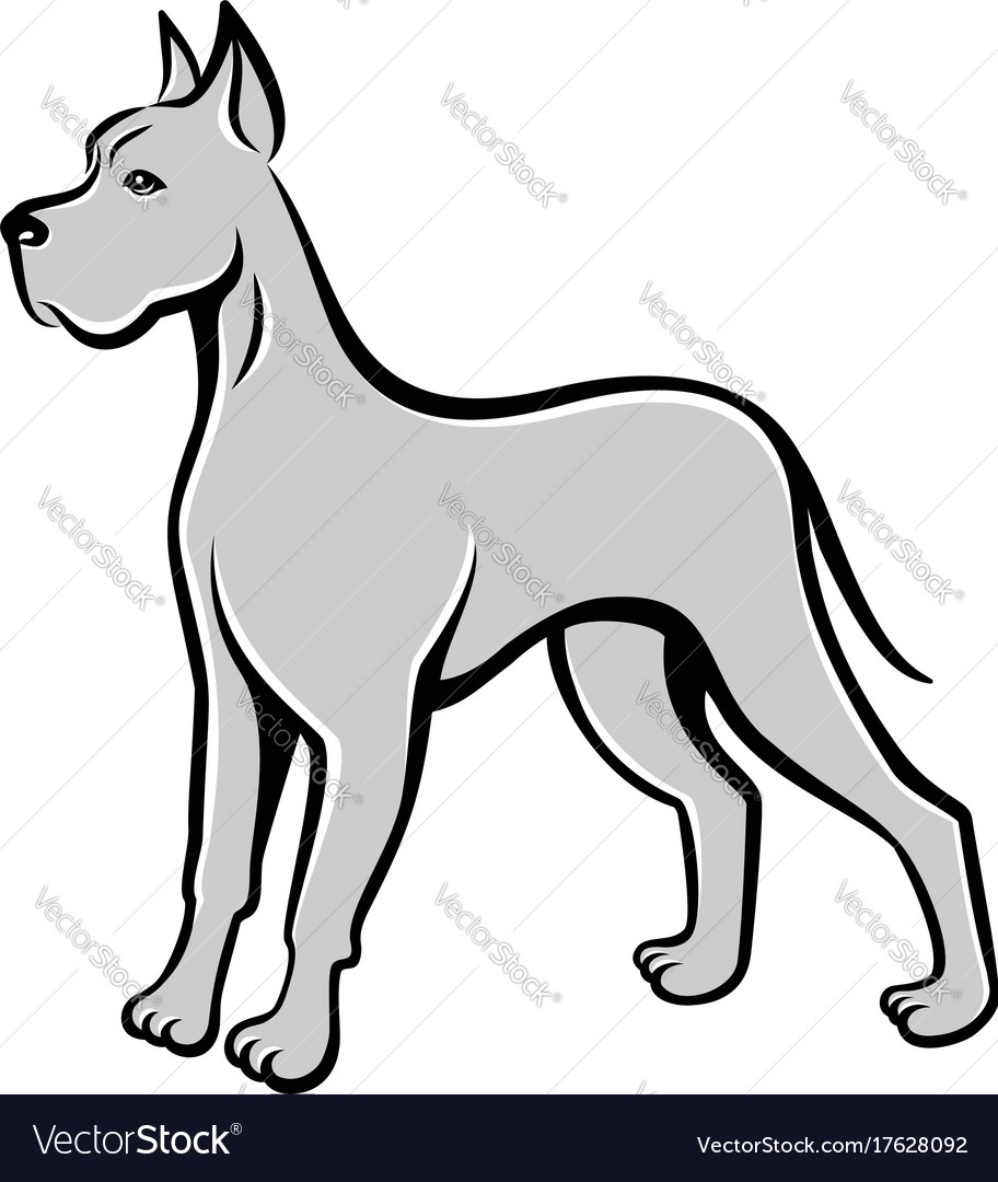 Dog line art drawing can be used as logo