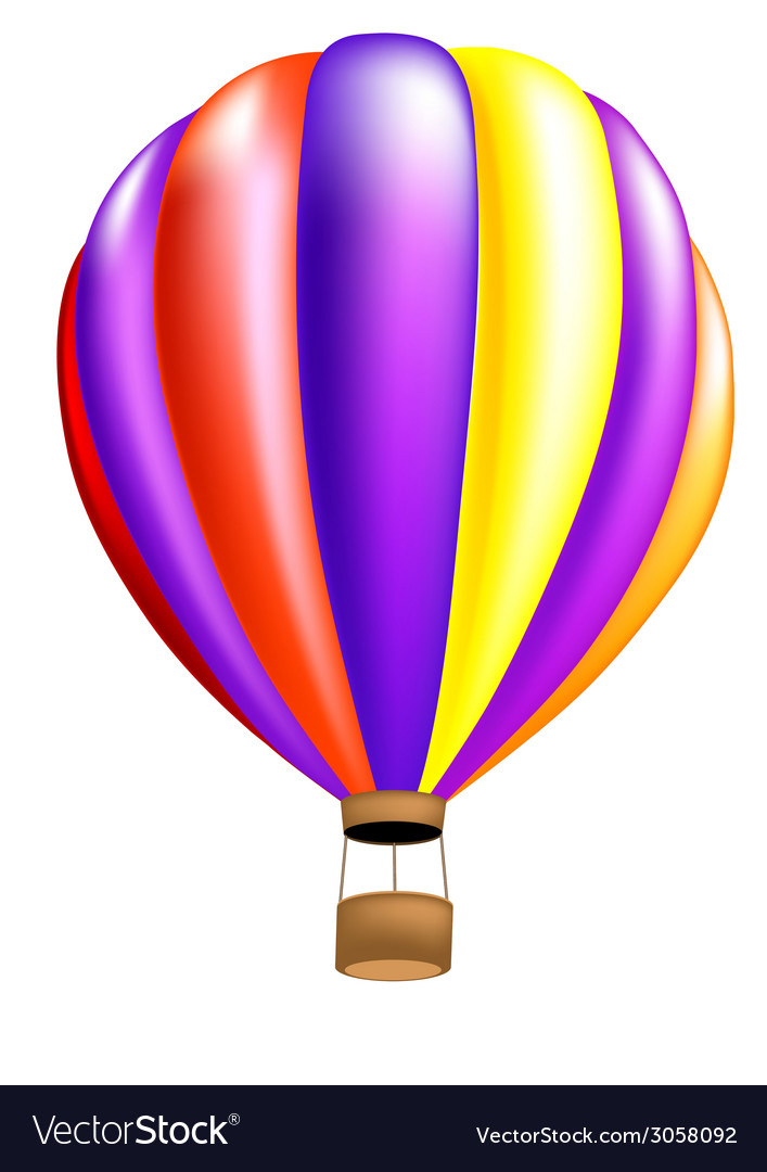 Hot air balloon colorful vector image