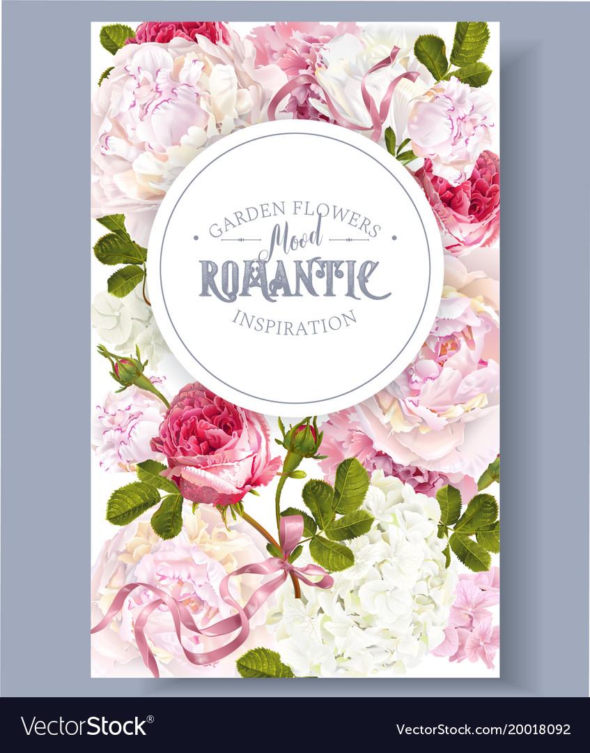 Romantic garden banner