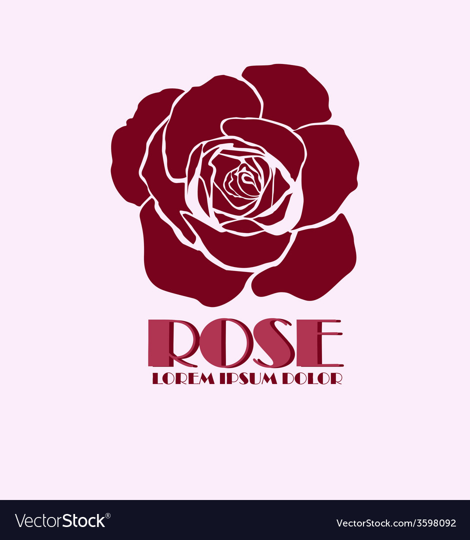 rose logo design template royalty free vector image