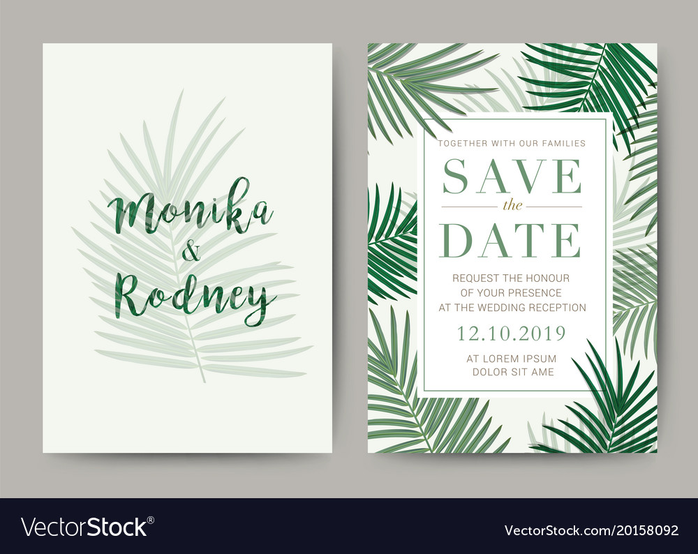 Set Of Wedding Card Template Background For