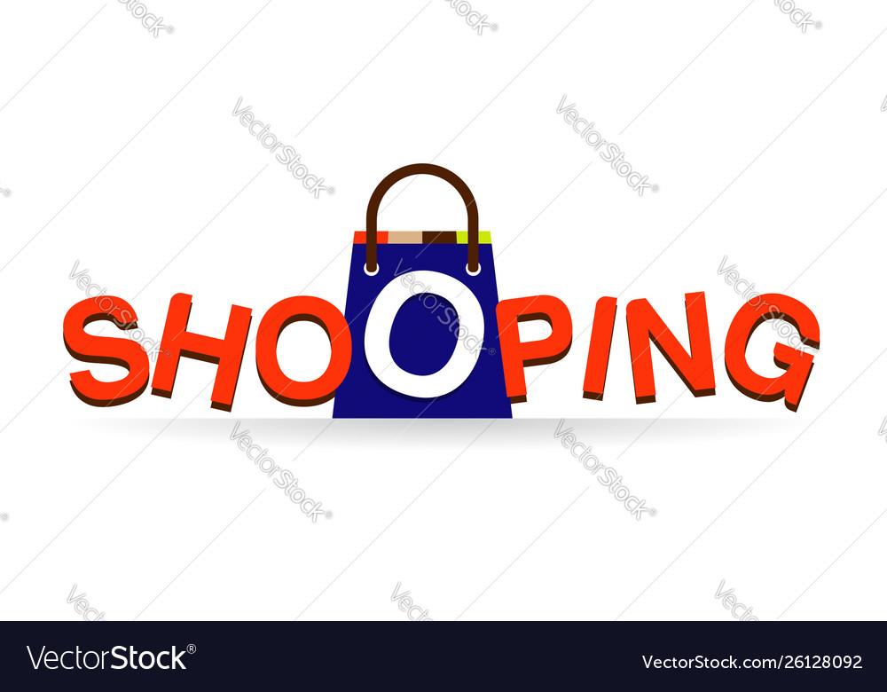 Shopping logo type design symbol