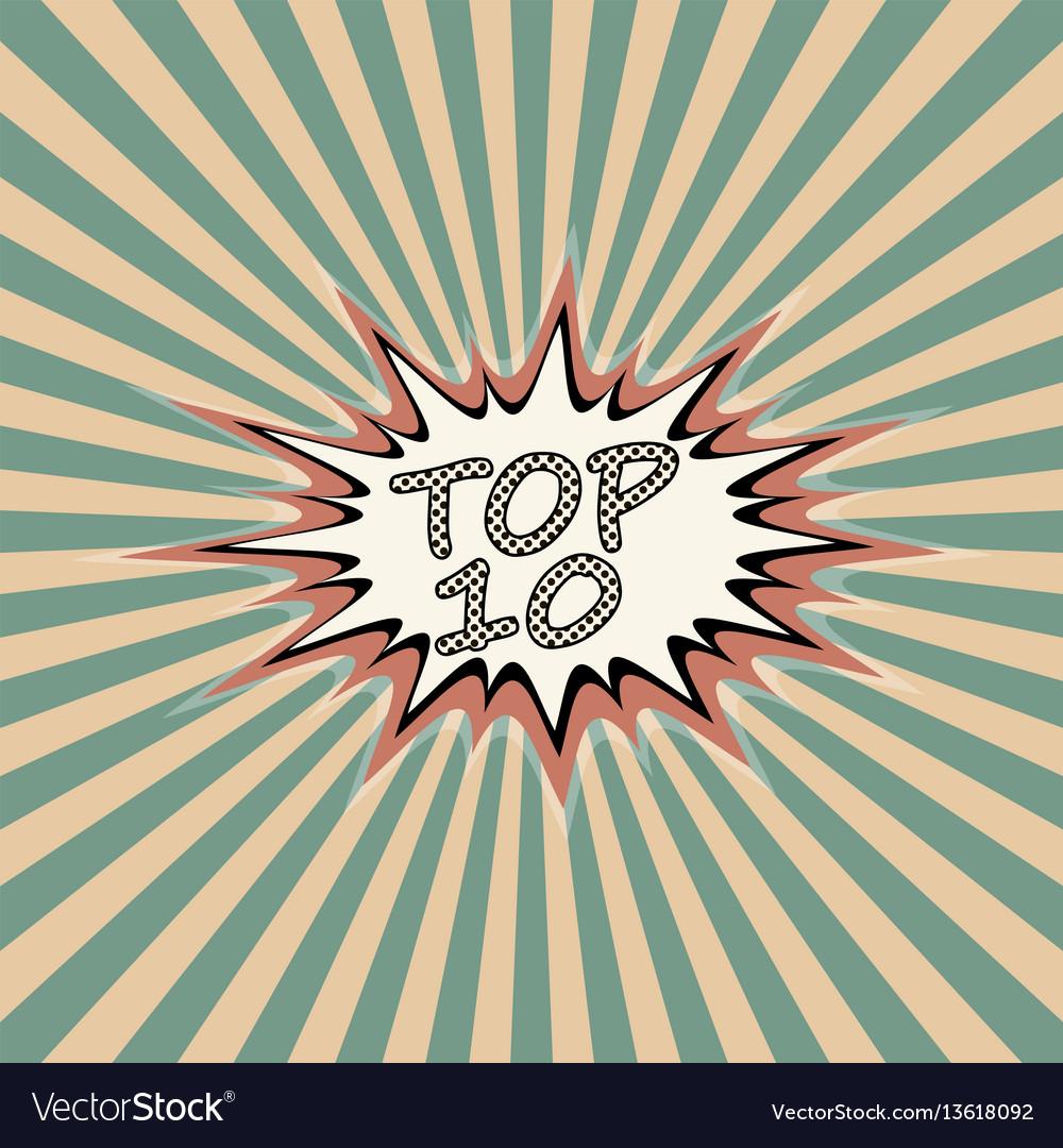 Top ten banner