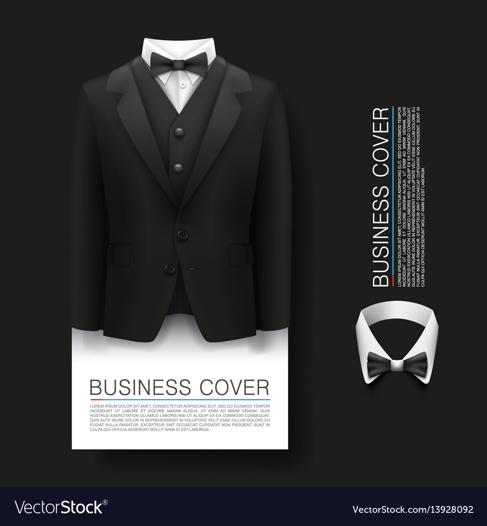 Tuxedo cover background complimentary ticket