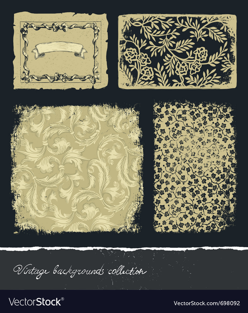 Vintage backgrounds collection vector image