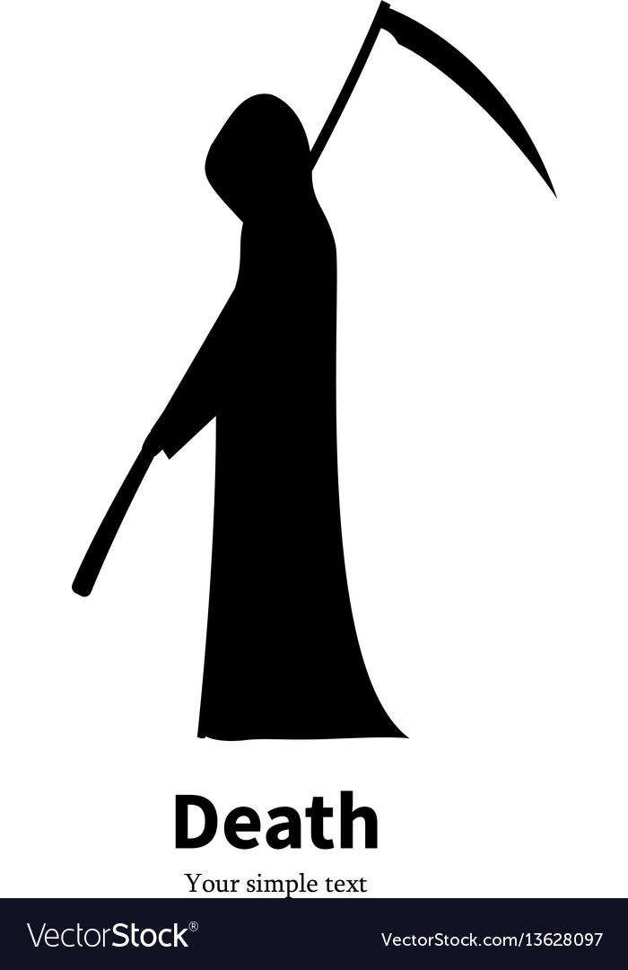 Black Silhouette Grim Reaper Royalty Free Vector Image
