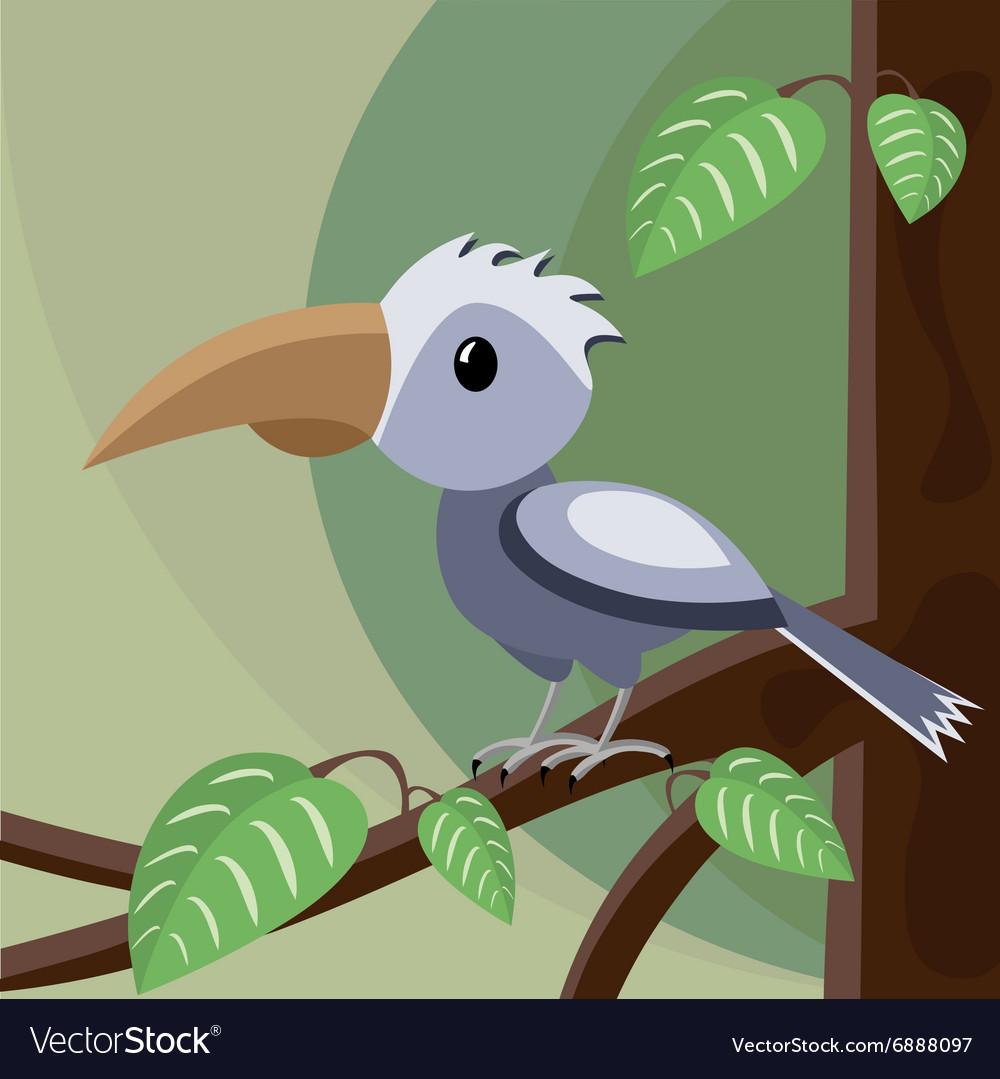 Blue bird on the tree