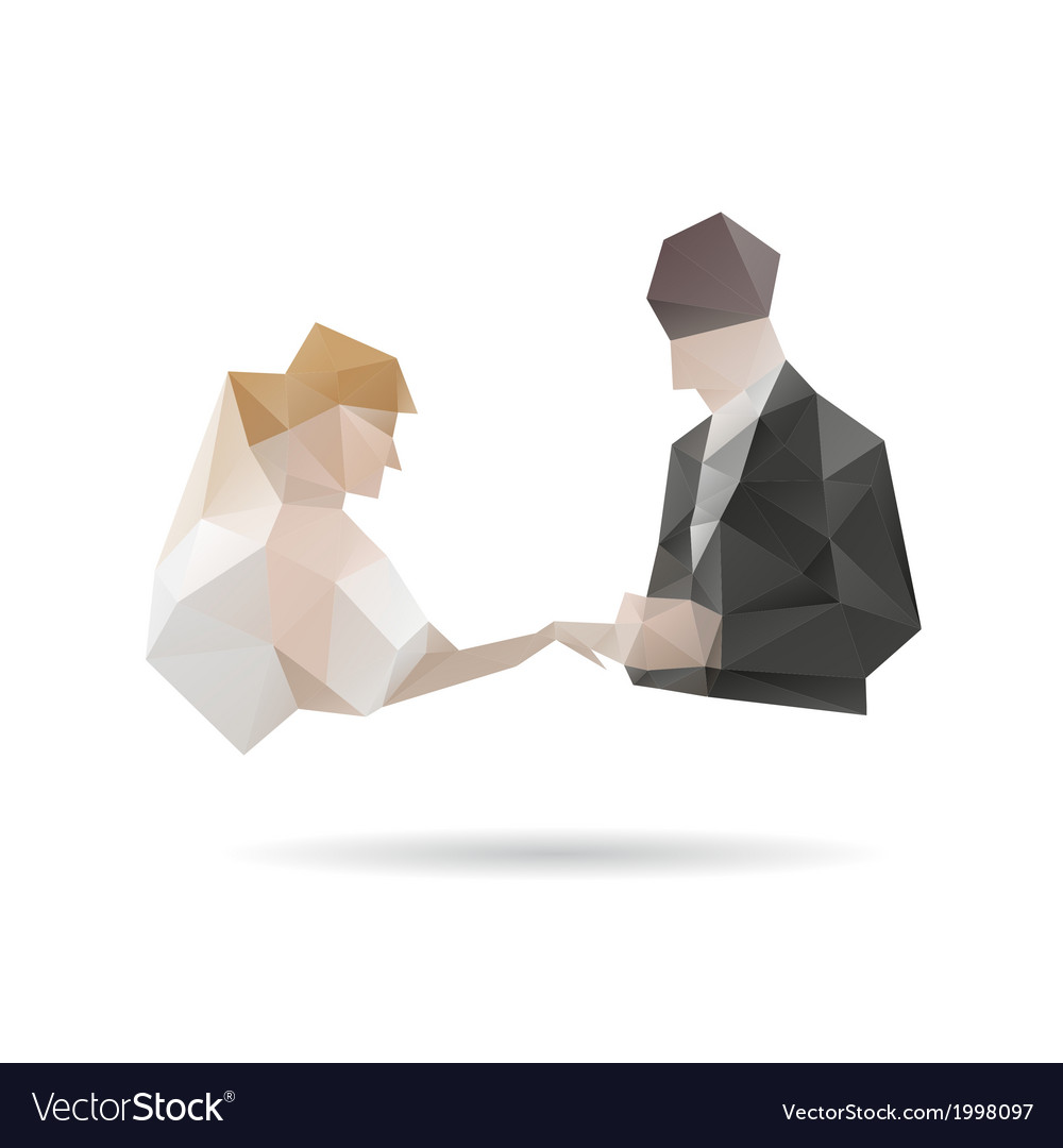 Bride and groom isolated on a white backgrounds