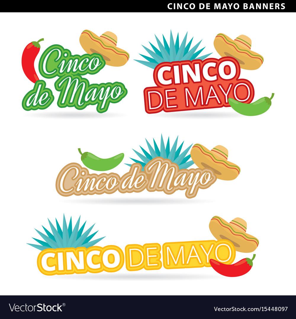 Cinco de mayo banners