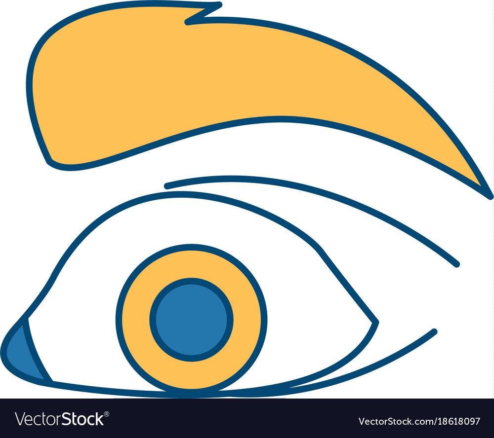 Eye pop art cartoon