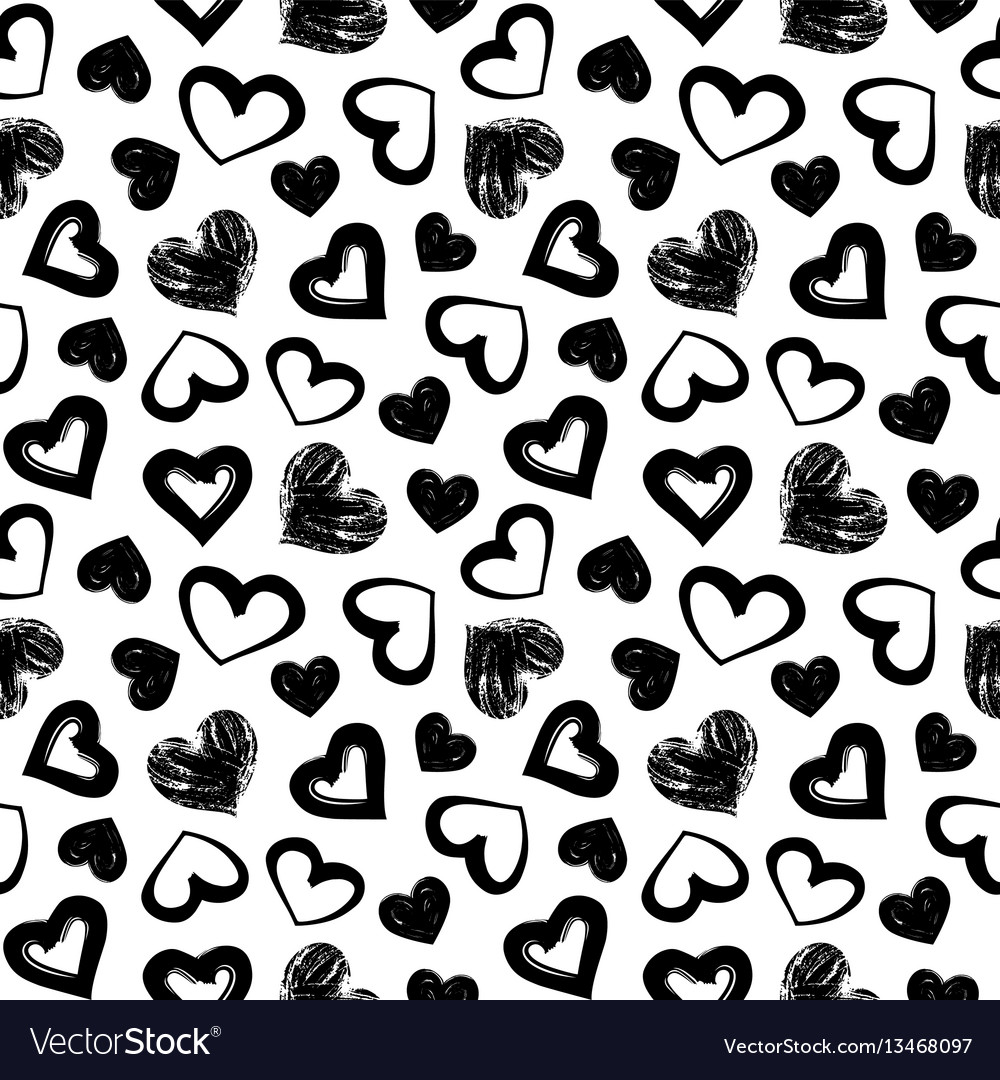 Love theme hearts valentines day seamless