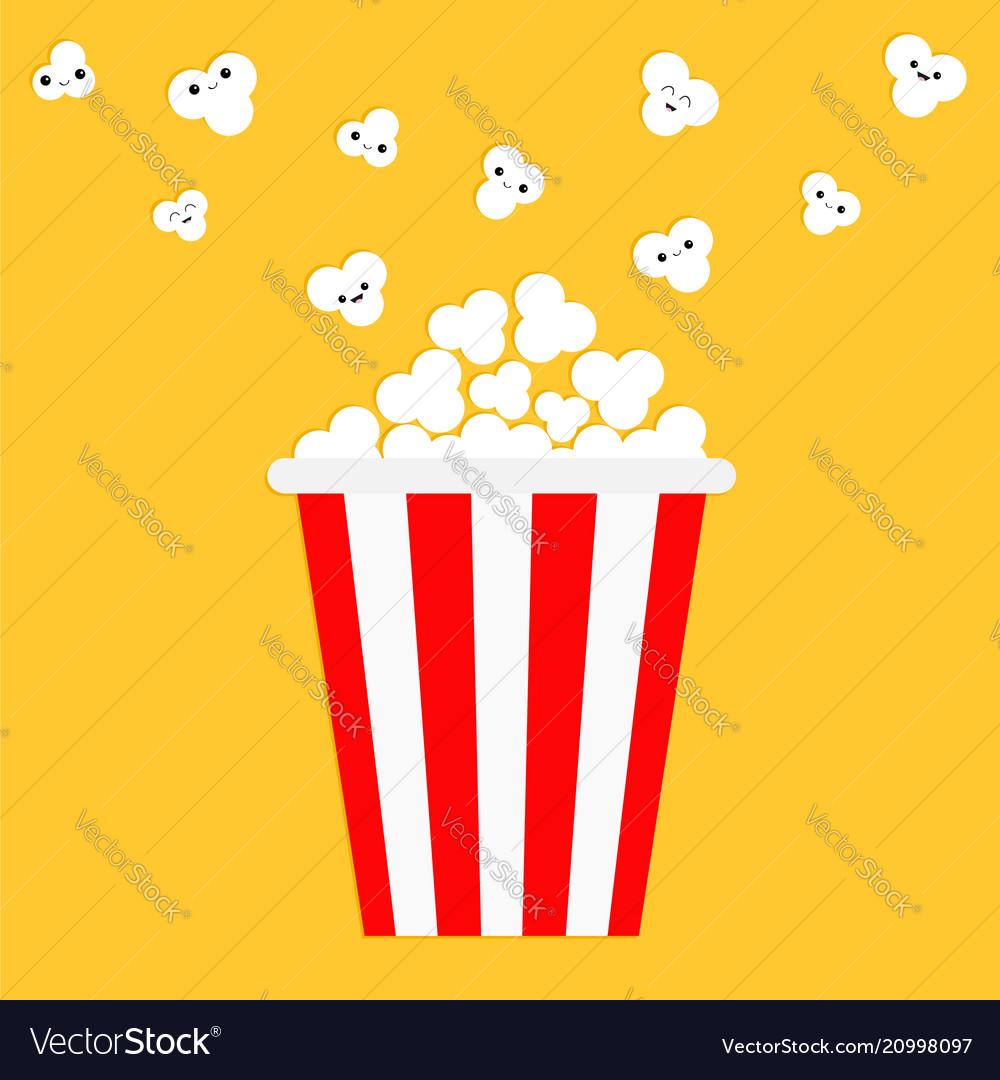 Popcorn popping red yellow strip box cinema movie