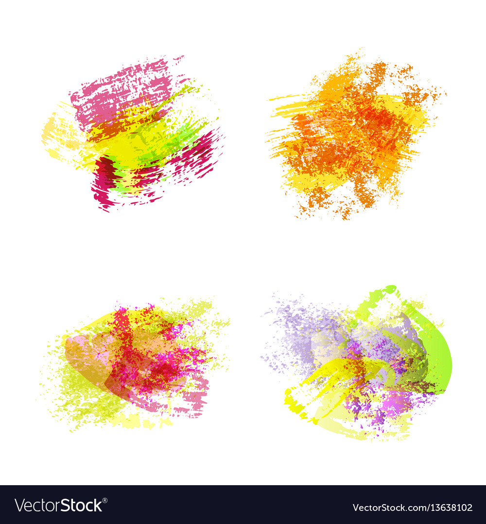 Abstract watercolor spots
