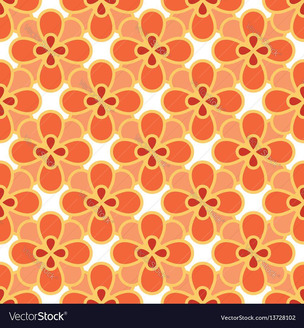 Art abstract flower seamless pattern
