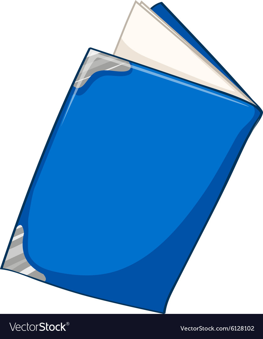 Blue book on white vector image