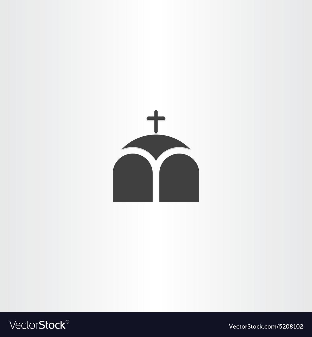 Church or chapel cross icon