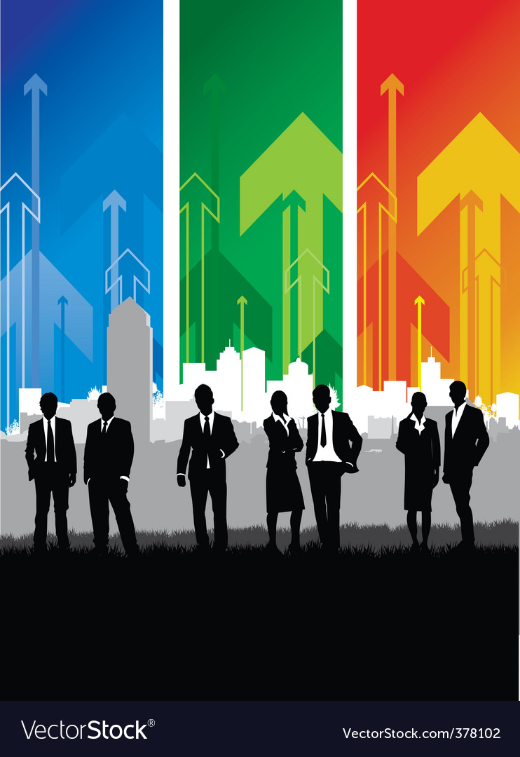 Cityscape meadow people vector image