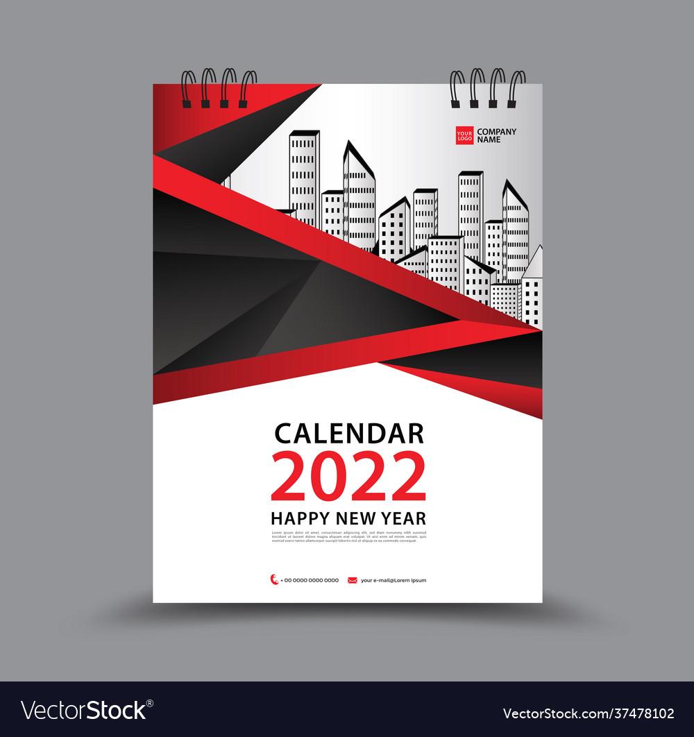 2022 Calendar Cover.Cover Calendar 2022 Year Template Royalty Free Vector Image