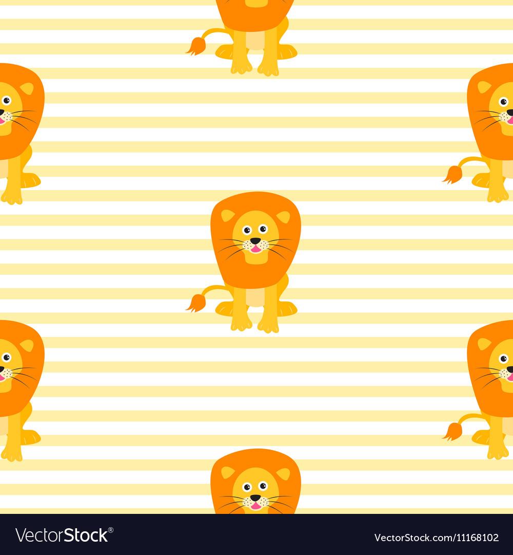 Cute lion seamless pattern