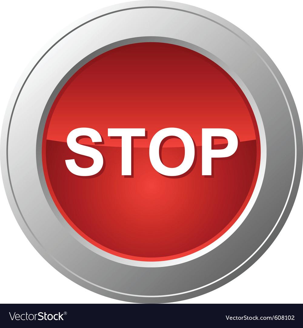 Stop Button Vector Art Download Modern Vectors 608102