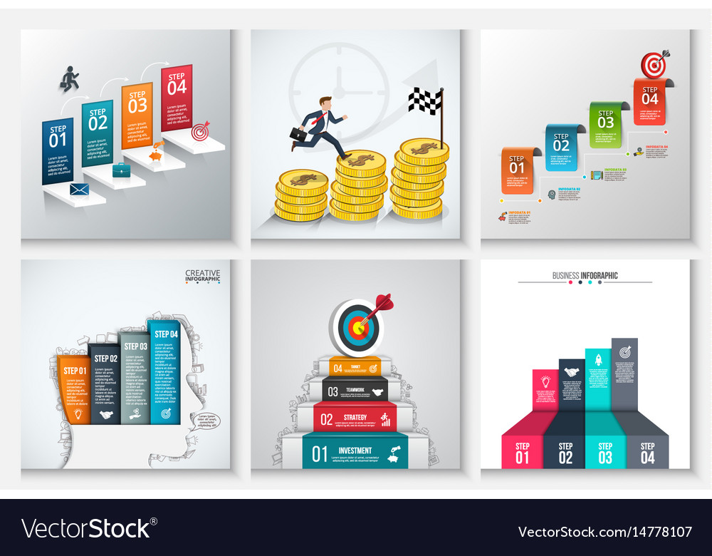 Business staircase infographics