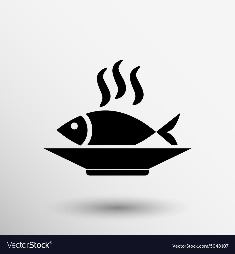 Fish menu icon logo seafood fork tuna