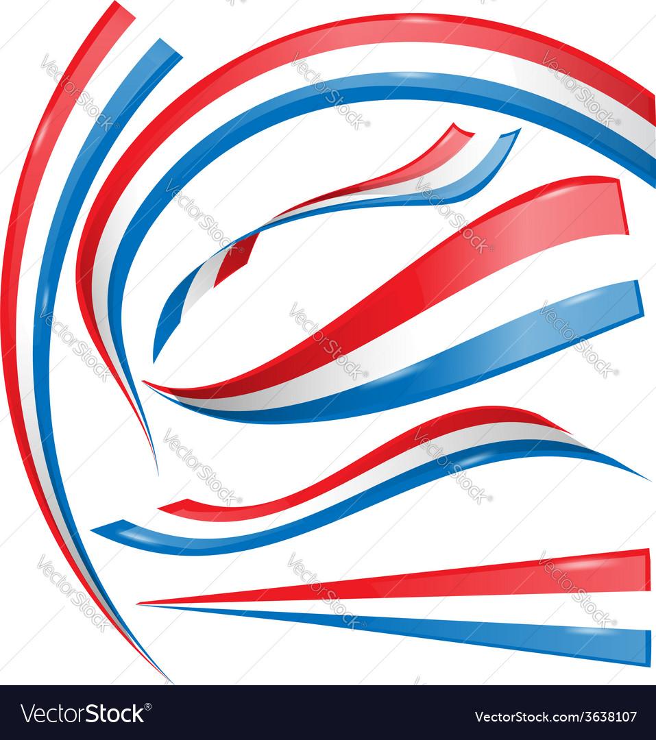 France flag set isolated on white vector image