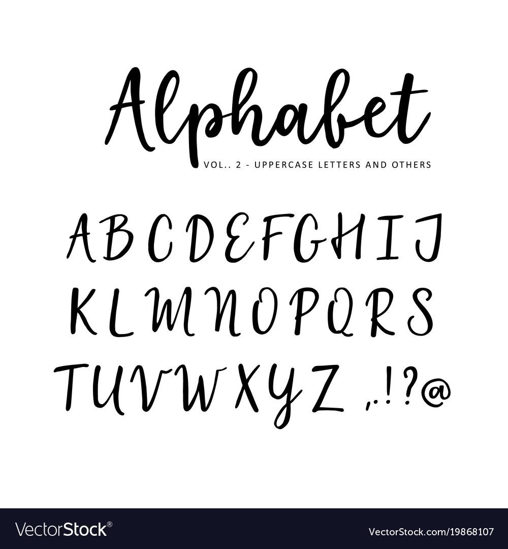 Hand Drawn Alphabet Brush Script Font