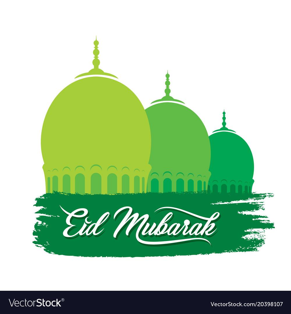 Happy eid mubarak greeting design