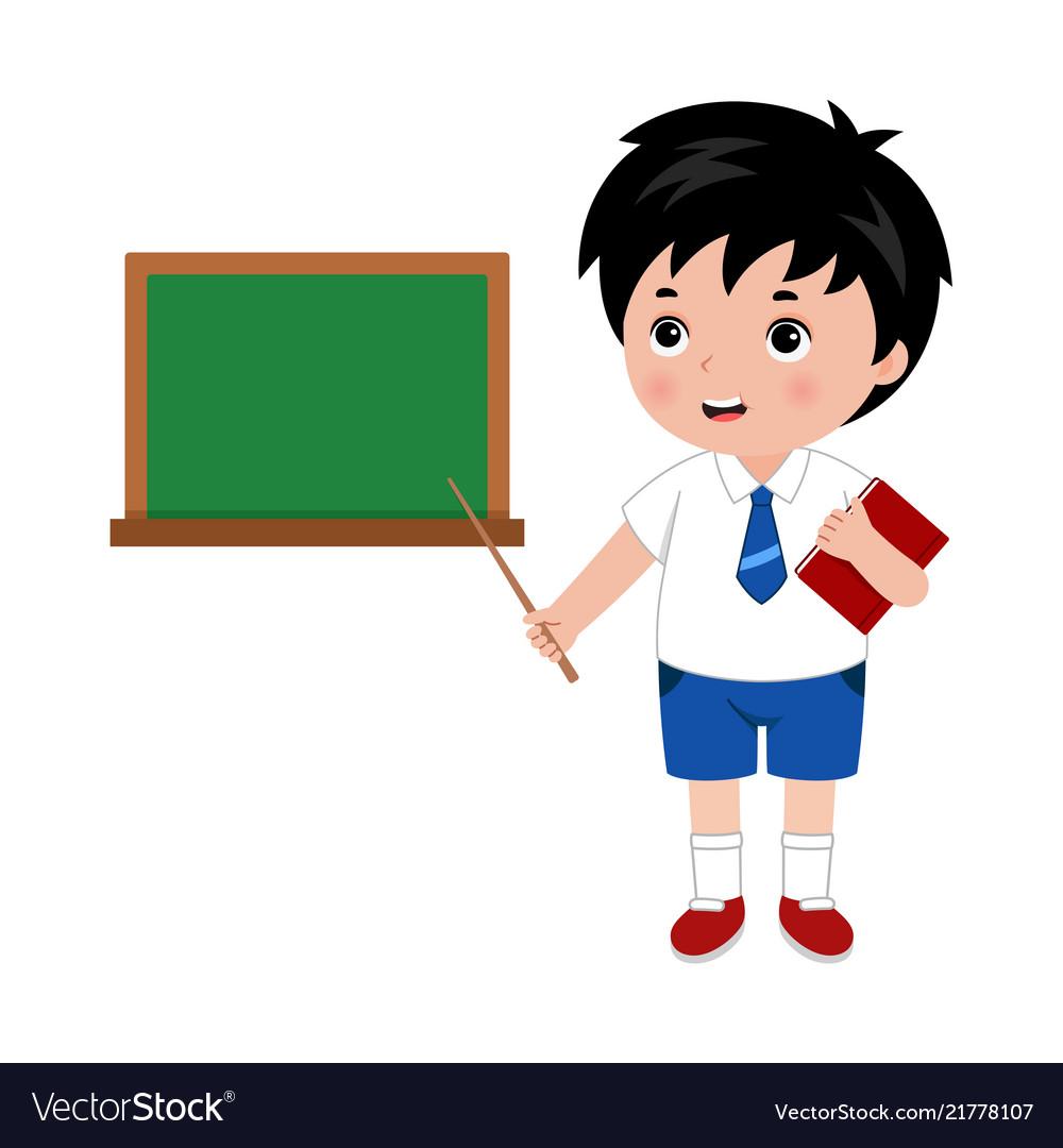 Little boy in school uniform